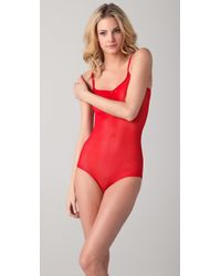Cheap Monday - Red Mesh Bodysuit - Lyst