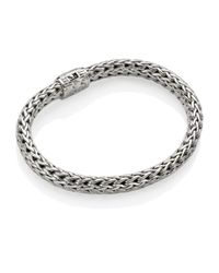 John Hardy   Metallic Diamond Clasp Classic Chain Bracelet   Lyst