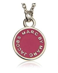 Marc By Marc Jacobs | Pink Enamel Disc Necklace | Lyst