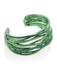 Roberto Cavalli - Green Ramage Twist Bracelet - Lyst
