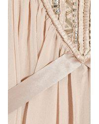 Temperley London - Pink Emberley Embellished Silk-georgette Kaftan - Lyst