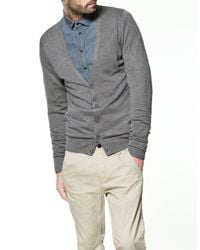Zara | Gray Viscose/polyamide Jacket for Men | Lyst