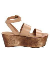 Elizabeth and James | Natural Bax Flatform Wedge Sandals | Lyst