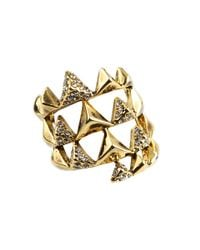 House of Harlow 1960 | Metallic Pyramid Wrap Ring with Pave | Lyst