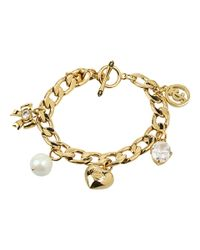 Juicy Couture | Metallic Iconic Pre-assembled Charm Bracelet | Lyst
