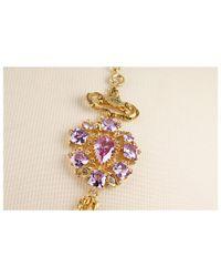 Juicy Couture - Metallic Starlet Estate Gemstone Chain Necklace - Lyst