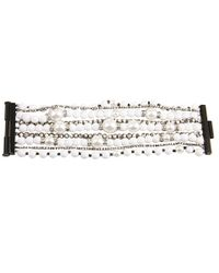 Juicy Couture | Gray Pearl & Resin Multi Strand Bracelet | Lyst