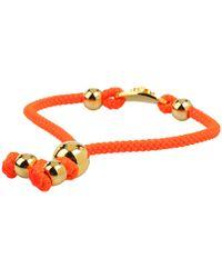Juicy Couture - Orange Crown Id Friendship Bracelet - Lyst