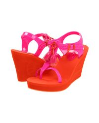 Juicy Couture   Pink Lily Wedge Sandals   Lyst