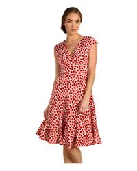 kate spade new york | Multicolor Pippa Floral-print Silk Dress | Lyst