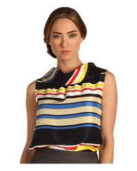 kate spade new york | Multicolor Blaise Stripe Sleeveless Cowl Neck Blouse | Lyst
