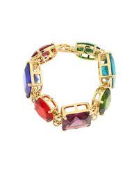 Kate Spade | Multicolor Trellis Blooms Open Hinge Cuff Bracelet | Lyst