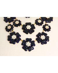 kate spade new york | Blue Carroll Gardens Bib Necklace | Lyst