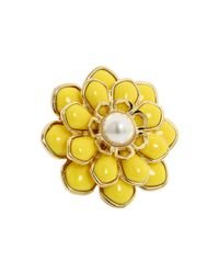 kate spade new york | Metallic Sweet Zinnia Floral Ring | Lyst