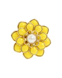 kate spade new york - Metallic Sweet Zinnia Floral Ring - Lyst