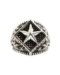 King Baby Studio - Metallic Diamond Star Ring - Lyst
