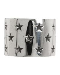 King Baby Studio - Metallic Wide Band With  Stars Ring - Lyst