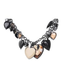 Marc By Marc Jacobs - Black Iconic Hearts - Gabrielle Necklace - Lyst
