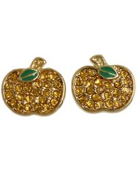 Marc By Marc Jacobs - Metallic Anniversary Pave Apple Studs - Lyst