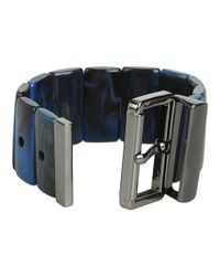 Marc By Marc Jacobs | Blue Predator Stretch Buckle Bracelet | Lyst