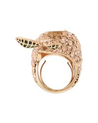 Marc By Marc Jacobs - Pink Anniversary Pave Pear Ring - Lyst