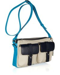 Marc By Marc Jacobs | Beige Werdie Color-block Leather Shoulder Bag | Lyst
