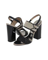 Proenza Schouler | Black Braided Chunky Heel Sandal | Lyst