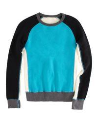 Rag & Bone - Blue Colorblocked Dakota Sweatshirt - Lyst