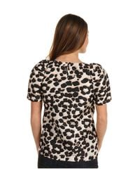 See By Chloé | Multicolor Leopard Print Silk Top | Lyst