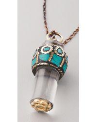 Vanessa Mooney - Blue Heart Glass Pendant Necklace - Lyst