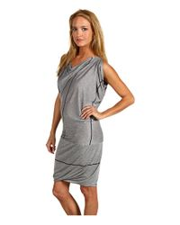 Vivienne Westwood Anglomania - Gray Fortune Dress in Grey/navy Stripe - Lyst