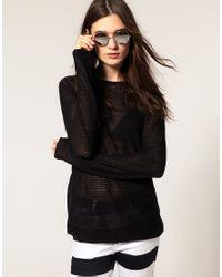 Cheap Monday - Black Fine Knit Jumper - Lyst