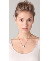 Elizabeth and James | White Thorn Pendant Necklace | Lyst