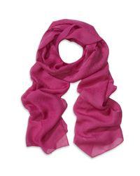 Ferragamo | Pink Gancio Silk Jacquard Scarf | Lyst