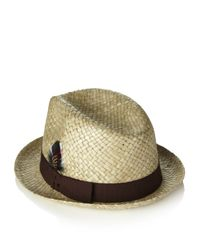 Paul Smith | Natural Embellished Straw Trilby Hat for Men | Lyst