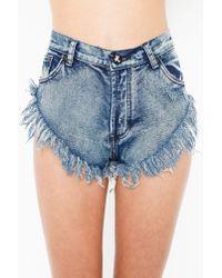 Nasty Gal   Blue Original Zzs Cutoff Shorts   Lyst