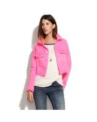 Textile Elizabeth and James | Pink Textile Elizabeth & James® Sid Denim Jacket | Lyst