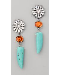DANNIJO - Orange Estrella Earrings - Lyst