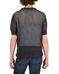 Dolce & Gabbana - Blue Cotton Mesh Net Sweater for Men - Lyst