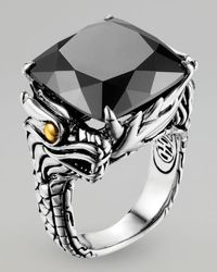 John Hardy - Metallic Naga Batu Ring, Hematite - Lyst