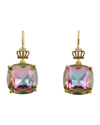 Juicy Couture | Purple Technicolor Dream Small Cushion Cut Drop Earrings | Lyst