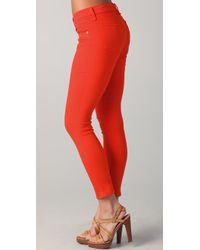 Rag & Bone - Orange Capri Skinny Jean - Crimson - Lyst