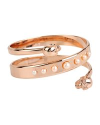 Alexander McQueen | Metallic Spiral Twin and Pearl Bracelet | Lyst