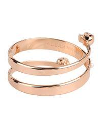 Alexander McQueen - Metallic Spiral Twin and Pearl Bracelet - Lyst