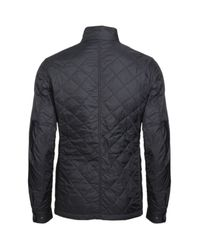 Barbour | Black Quilted Nylon Ariel Motorcycle Jacket for Men | Lyst