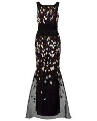 Carolina Herrera | Black Ikat Sequin Gown | Lyst