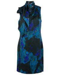 Edun | Blue Print Shift Scarf Dress | Lyst