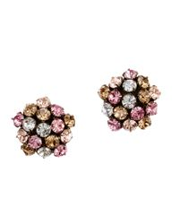 J.Crew | Pink Crystal Lights Earrings | Lyst