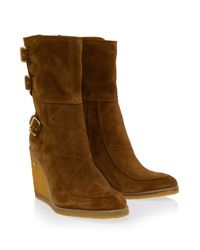 Laurence Dacade - Brown Rabbit Fur Merli Boot - Lyst