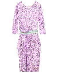 Saloni | Pink Alek Print Long Dress | Lyst